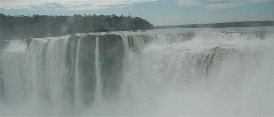 Iguazu Falls on Brazil-Argentina border
